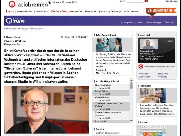 """""""Gesprächszeit: Kampfkunst"""""""