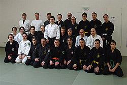 Die Teilnehmer des Aikido-Lehrgangs in Baiersbronn