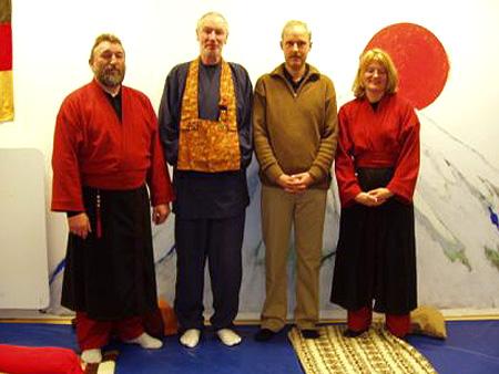 Ausrichter Norbert Fritz mit den Lehrern