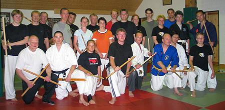 Teilnehmer des Bo-Jutsu-LG in Aurich
