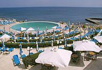Ansicht des Beachresorts auf Malta
