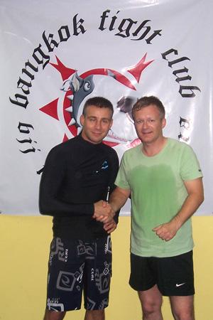 Claude Weiland mit MMA-Kämpfer Berezovik
