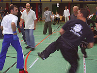 Nikolai Dumke (rechts) beim Semikontakt-Duell