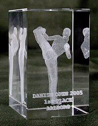 Moderne Acryl-Trophy in 3D-Optik - 1. Preis der Danish Open
